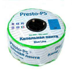 Капельная лента Presto-PS щелевая Blue Line отверстия через 20 см, расход воды 2,4 л/ч, длина 1000 м (BL-20-1000)