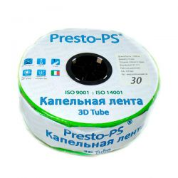Лента Presto-PS эмиттерная 3D Tube | 30 см | 2.7 л/ч | 1000 м