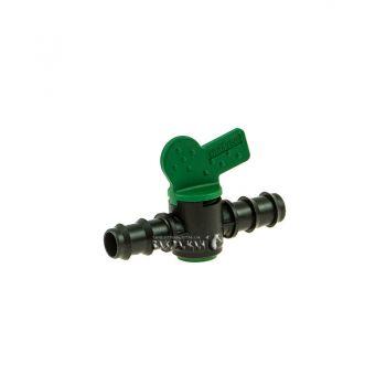 Кран Irritec (ОРИГИНАЛ) проходной для капельной трубки 16мм (ерш-ерш)