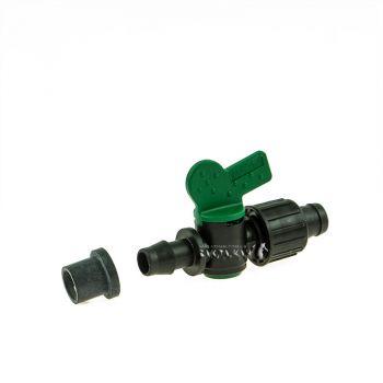 Миникран Irritec (ОРИГИНАЛ) для ленты капельного полива с резинкой