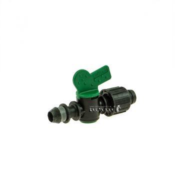 Кран Irritec (ОРИГИНАЛ) с впаянной резинкой для ленты капельного полива