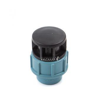 Заглушка зажимная на пластиковую трубу 75 мм