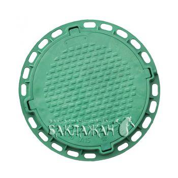Канализационный люк садовый круглый. Цвет - зеленый