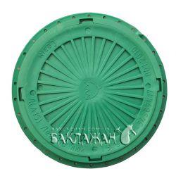 Канализационный люк круглый усиленный. Цвет - зеленый