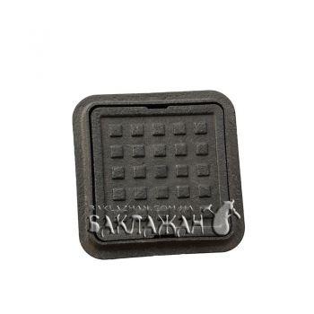 Малый люк пластмассовый черный 300*300 мм квадратный