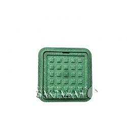 Квадратный канализационный мини-люк 300*300 мм зеленого цвета