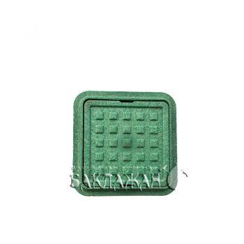 Малый люк канализационный зеленый 300*300 мм