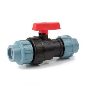 Кран пластиковый шаровый 32 мм для ПНД трубы